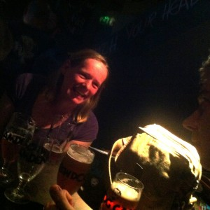 Becky of Art Brew & Matt of Total Ales share a drink and a giggle.