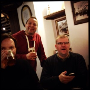 Paolo, Jake & Richard. Three hopheads drinking Hophead.