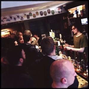 The Port Street Bar looked slightly overwhelmed.