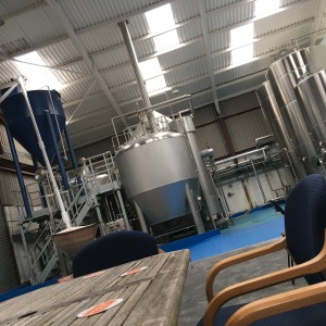 Salopian's new brewery is big and shiny.